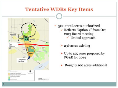 Proposed new agriculture treatment unit locations